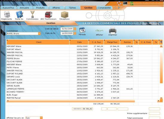 Exemple de calcul de commissions